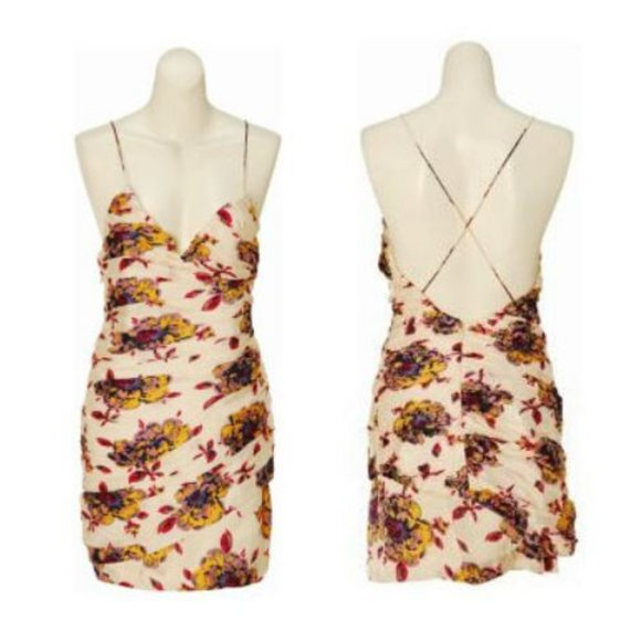 Jill Stuart  Collection 100% Silk Floral Dress